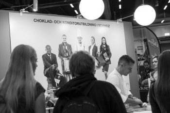 Chokladfetsivalen our Stand Chef Yann baking