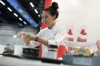 Pastry chef Sofia BakFia Söderberg in action