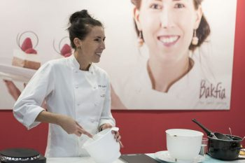 Pastry Chef Sofia BakFia Söderberg in action at Bak-och Chokladfestivalen